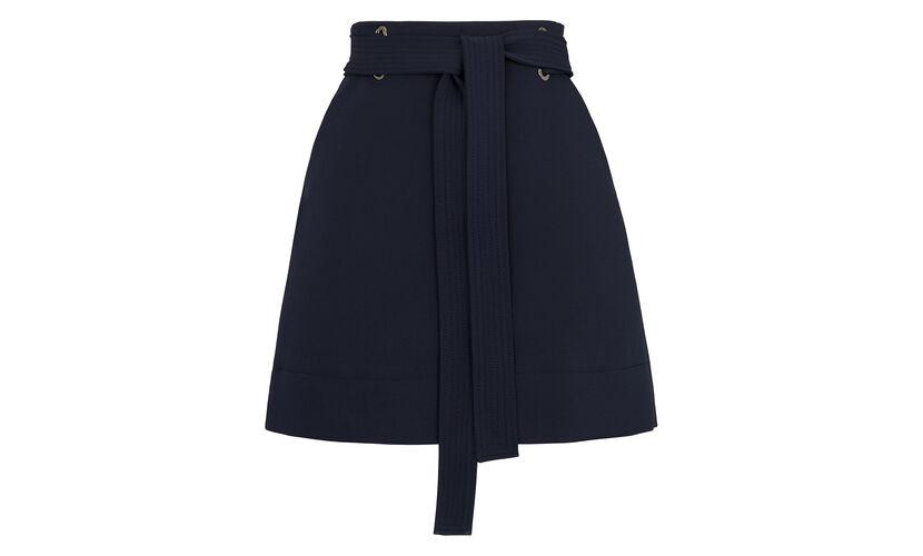 Mini Belted Skirt, in Navy on Whistles