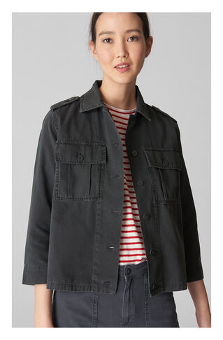 Utility Jacket, in Grey on Whistles