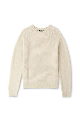 Donegal Rib Knit, in Ivory on Whistles