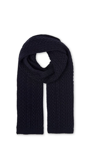 Cable Knit Scarf, in Navy on Whistles