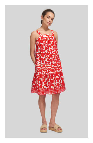 Simone Floral Dress, in Red/Multi on Whistles