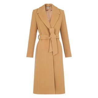 Alexandra Belted Coat, in Camel on Whistles