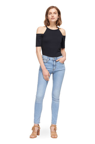 Cold Shoulder Top, in Navy on Whistles