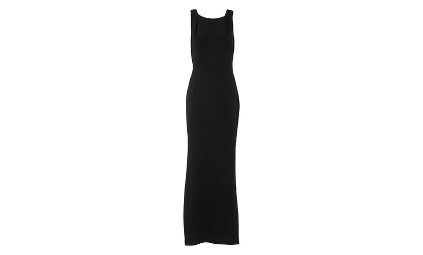 Black Tie Back Maxi Dress, in Black on Whistles