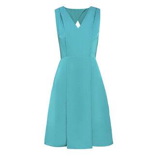 Adelaide V Neck Dress, in Turquoise on Whistles