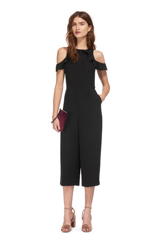 Mia Cold Shoulder Jumpsuit, in Black on Whistles