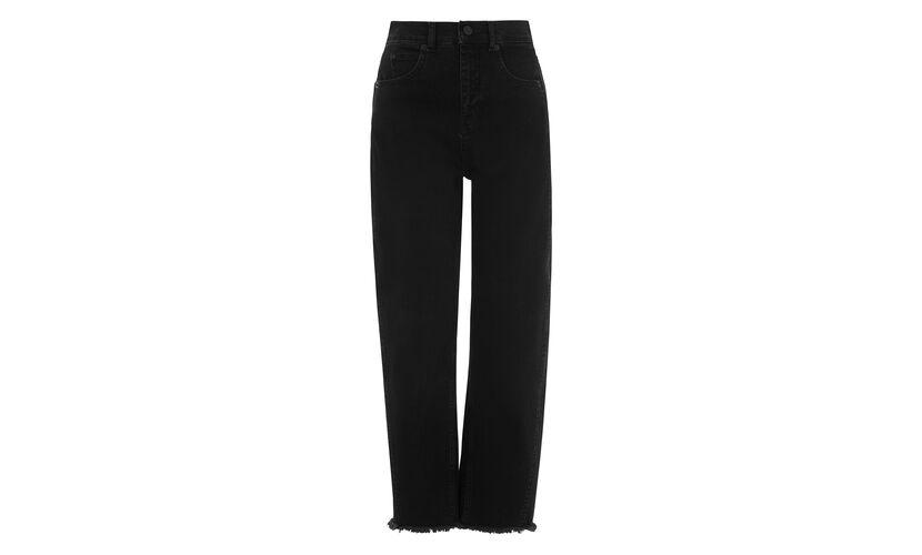 High Waist Barrel Leg Jean, in Black on Whistles