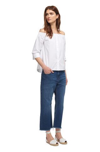 Cotton Bardot Top, in White on Whistles