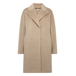 Dara Cocoon Coat, in Oatmeal on Whistles