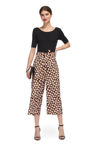 Star Print Tie Waist Trouser, in Multicolour on Whistles