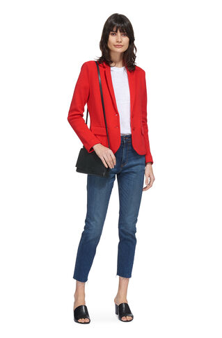 Slim Jersey Jacket, in Red on Whistles