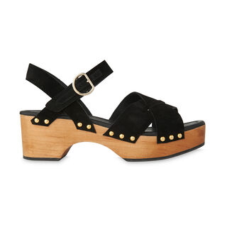 Hanson Suede Clog, in Black on Whistles