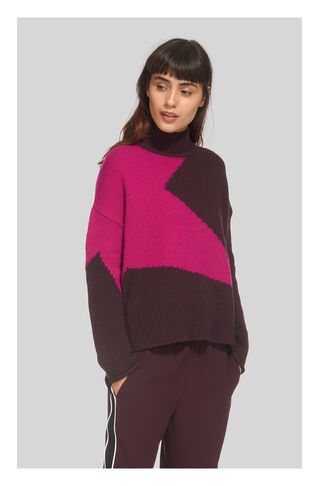 Star Intarsia Knit, in Fig on Whistles