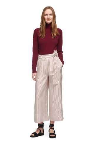 Silk Stripe Tie Front Trouser, in Multicolour on Whistles