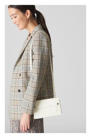 Aubry Croc Crossbody Bag, in White on Whistles