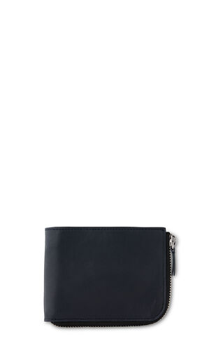 Leather Zip Around Wallet, in Navy on Whistles