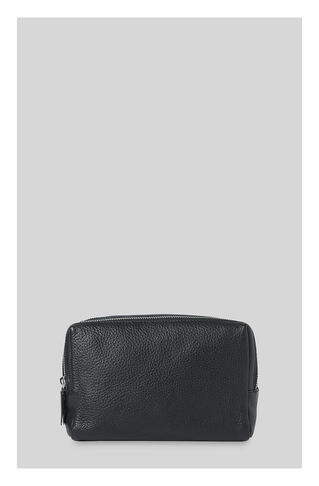 Leather Washbag, in Black on Whistles