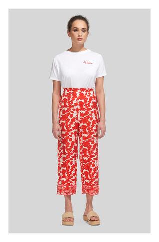Floral Split Hem Trouser, in Red/Multi on Whistles