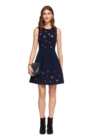 Willow Embellished Dress, in Navy on Whistles