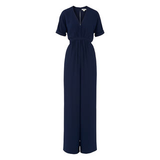 Buena Gathered Waist Jumpsuit, in Navy on Whistles