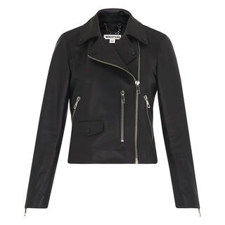 Agnes Leather Biker, in Black on Whistles