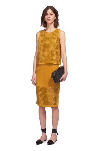 Limited Perforated Leather Top, in Yellow on Whistles