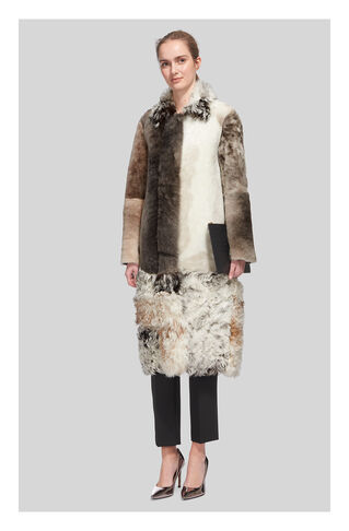 Patchwork Sheepskin Coat, in Multicolour on Whistles