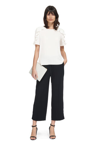 Stefanie Frill Shoulder Top, in Ivory on Whistles