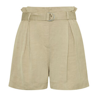 Jenny Linen Viscose Shorts, in Neutral on Whistles