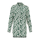 Thelma Daisy Print Silk Shirt, in Green/Multi on Whistles
