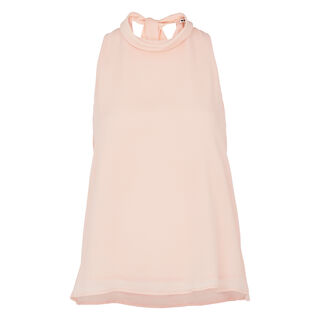 Roll Neck Tie Back Top, in NUDE on Whistles