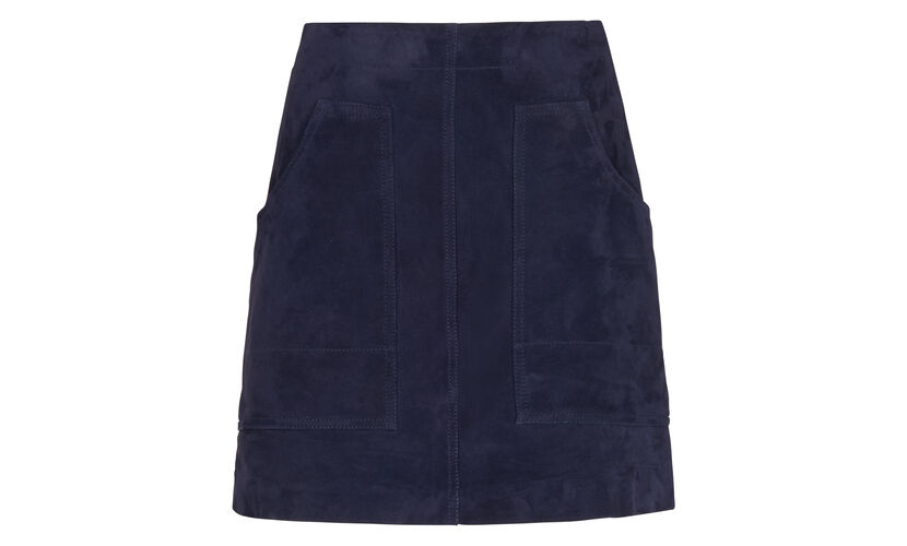 A-line Suede Skirt, in Navy on Whistles