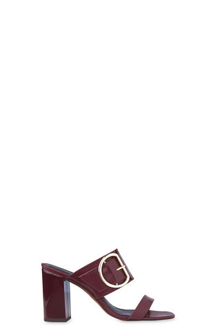 Fairhope Buckle High Sandal, in Burgundy on Whistles