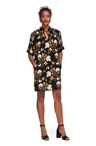 Tie Neck Belize Print Dress, in Multicolour on Whistles