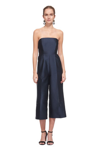 Pearl Tie Back Jumpsuit, in Navy on Whistles