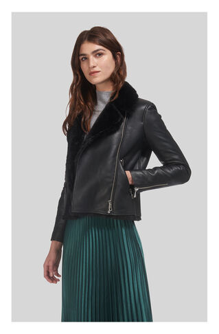 Agnes Faux Fur Bonded, in Black on Whistles