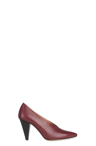 Soto V Throat Point Pump, in Burgundy on Whistles
