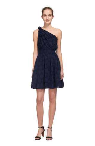 Rosanna One Shoulder Dress, in Navy on Whistles