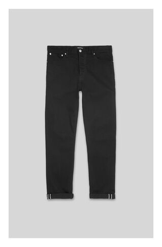 Tapered-Fit Selvedge Jean, in Black on Whistles