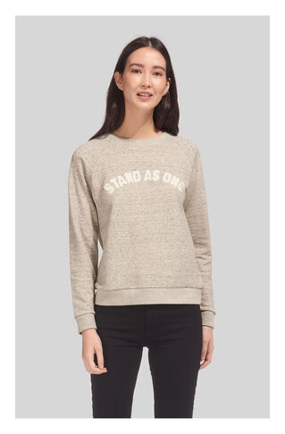 Stand As One Sweatshirt, in Grey Marl on Whistles
