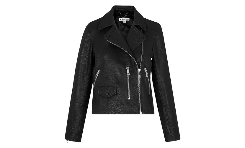Agnes Bubble Leather Biker, in Black on Whistles