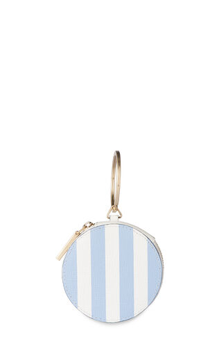 Saffiano Stripe Circle Purse, in Blue/White on Whistles