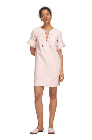 Gemma Tie Front Dress, in Pale Pink on Whistles