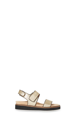 Keller Velcro Footbed Sandal, in Gold on Whistles