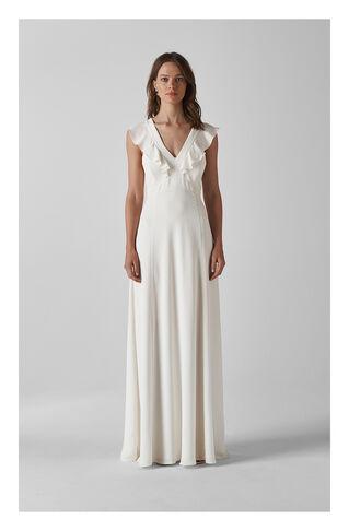 Eve Silk Wedding Dress, in White on Whistles