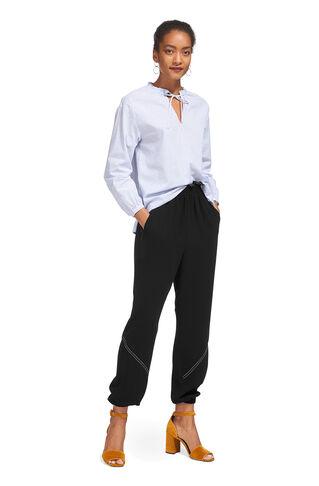 Lexi Frill Detail Trouser, in Black on Whistles