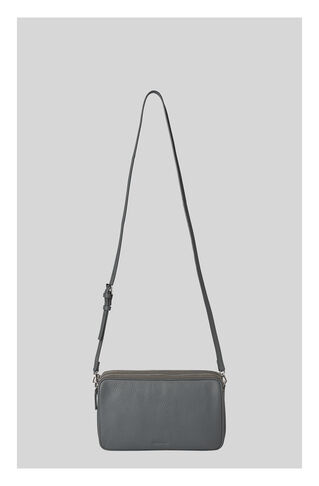 Cornelia Triple Zip Bag, in Dark Grey on Whistles