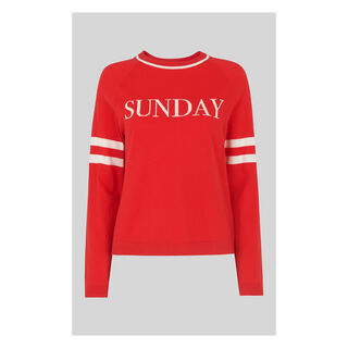 Sunday Sweater, in Red on Whistles