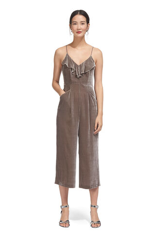Florence Velvet Jumpsuit, in Silver on Whistles