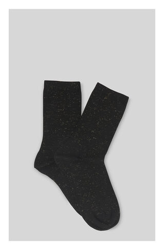 Sparkle Knit Socks, in Black on Whistles